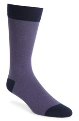 Ted Baker London Joaquim Solid Socks Purple