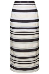 Zebra Midi Pencil Skirt By Jovonna Black