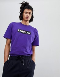 Fairplay Pam T Shirt With Logo In Purple
