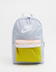 Nike Swoosh Backpack In Grey And Yellow