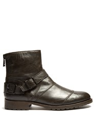 Belstaff Trialmaster Leather Boots Black
