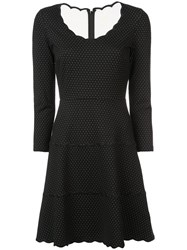 Kate Spade Polka Dot Scalloped Dress Black