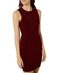 Karen Millen Partial Peplum Dress Purple