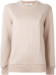 Givenchy Love Embroidered Sweatshirt Nude And Neutrals