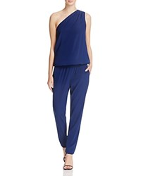 Ramy Brook Lulu One Shoulder Jumpsuit Navy