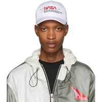 Heron Preston White Embroidered Logo Cap