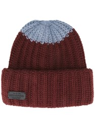 Dsquared2 Ribbed Colour Block Beanie