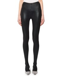 Tom Ford Coated Stretch Jersey Stirrup Leggings Black