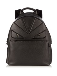 Fendi Bag Bugs Leather Backpack Silver Multi
