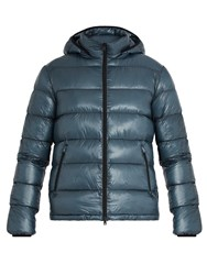 Herno Quilted Down Bomber Jacket Blue