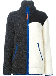 T By Alexander Wang Colour Block Chunky Cardigan Black
