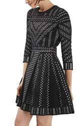 Topshop Women's Geometric Fit And Flare Dress