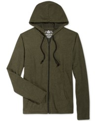 American Rag Men's Lightweight Full Zip Hoodie Only At Macy's Dusty Olive
