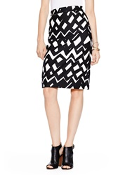 Kate Spade Madison Ave. Collection Chevron Marit Skirt Black