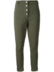 Manning Cartell Military Issue Trousers Women Nylon Spandex Elastane Viscose 8 Green