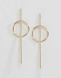 Asos Limited Edition Circle Strand Earrings Gold