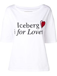 Iceberg Is For Lovers T Shirt White