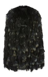 Elie Saab Ostrich Feather Jacket Multi