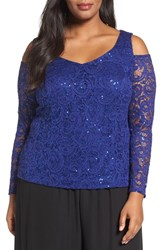 Alex Evenings Plus Size Women's Sequin Lace Top