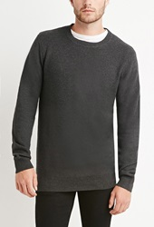 Forever 21 Thermal Knit Sweater Charcoal Heather