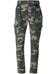 Faith Connexion Camouflage Trousers Green