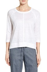 Nordstrom Women's Collection Linen Knit High Low Top
