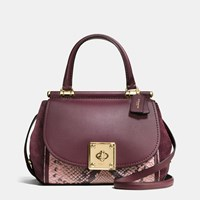 Coach Drifter Top Handle Satchel In Colorblock Exotic Embossed Leather Light Gold Oxblood Multi