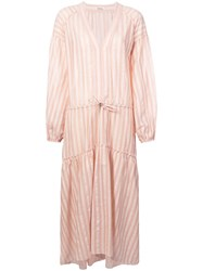 Lemlem Nefasi Striped Tiered Dress Pink