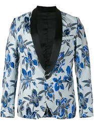 Christian Pellizzari Floral Print Dinner Jacket Blue