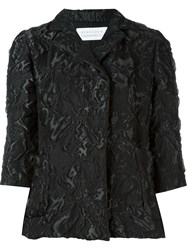 Gianluca Capannolo Three Quarter Sleeve Cloqua Jacket Black