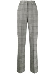 Pt01 Checked Straight Leg Trousers 60