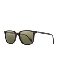 Oliver Peoples Opll Sun 53 Polarized Sunglasses Black
