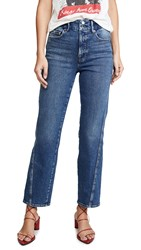 Good American Straight Twisted Seam Jeans Blue311