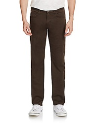 Hudson Slim Straight Jeans Brown