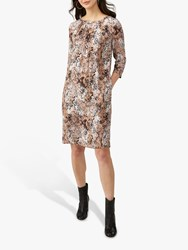 Pure Collection Pleat Detail Dress Neutral Snakeskin