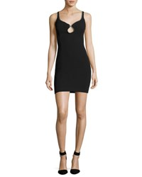 Alexander Wang Ball Chain Embellished Mini Dress Onyx