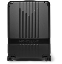 Montblanc My 4810 Leather Trimmed Polycarbonate Carry On Suitcase Black
