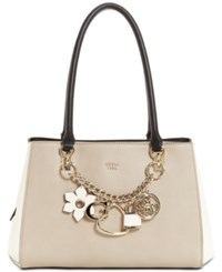 Guess Hadley Girlfriend Satchel Taupe Gold