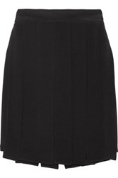 Cushnie Et Ochs Layered Silk Crepe Mini Skirt Black