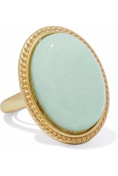 Kenneth Jay Lane Gold Tone Stone Ring Mint
