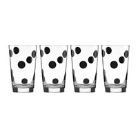 Kate Spade Deco Dots Glass Tumblers Set Of 4