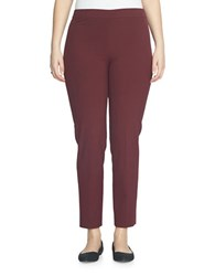 Chaus Courtney Side Zip Pants Burgundy
