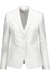Valentino Cotton And Silk Blend Blazer White