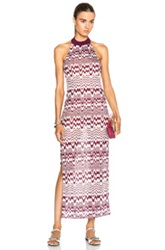 Missoni Mare Maxi Beach Dress In Purple Abstract
