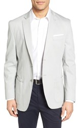 Jkt New York Men's Trim Fit Stretch Cotton Blazer Light Grey