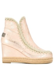 Mou Metallic Snow Boots Pink