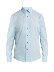 Lanvin Button Cuff Cotton Poplin Shirt Light Blue