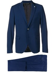 Manuel Ritz Two Piece Formal Suit Blue