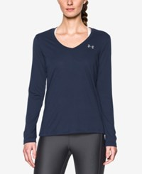 Under Armour Ua Tech Long Sleeve Top Midnight Navy