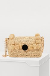 Vanessa Bruno Moon Raffia Shoulder Bag